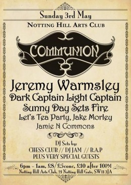 Communion London – May 3rd