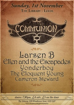 Communion Leeds – November 1st