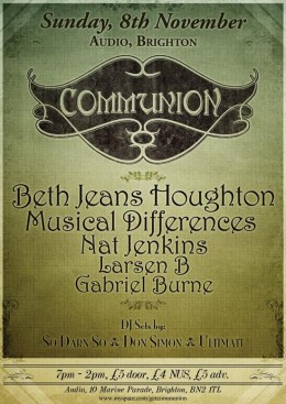 Communion Brighton – November 8th