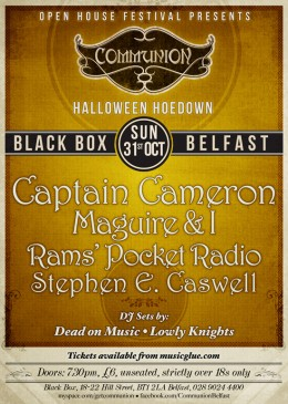 Communion Belfast: Halloween Hoedown at Black Box – 31st October