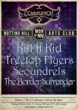 Special Communion Show at the Notting Hill Arts Club