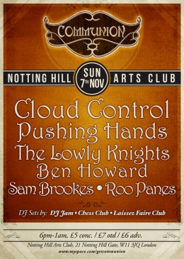 Cloud Control to headline London Communion in November