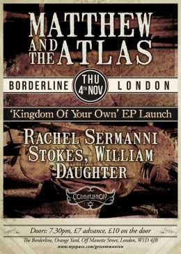 Matthew and the Atlas EP launch at the Borderline!