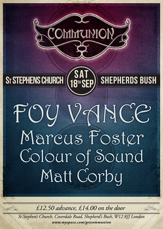 Foy Vance plays St. Stephen's Church on 18th September