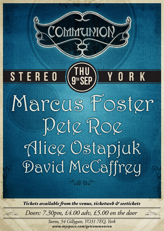York Communion: Thursday 9th September at Stereo