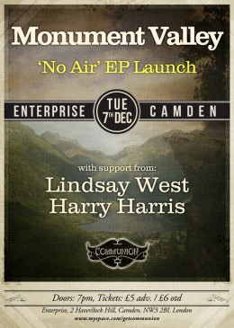 Monument Valley EP Launch - Enterprsie 7th December