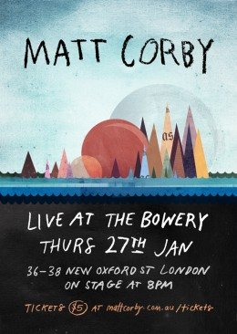 Matt Corby Show @ The Bowery