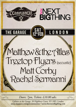 HMV Next Big Thing upstairs at the Garage Feb 12th