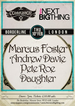 HMV Next Big Thing at the Borderline Feb 10th