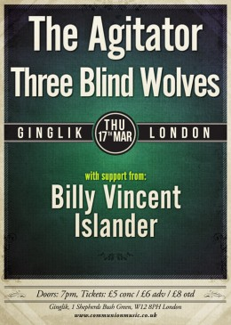 The Agitator and Three Blind Wolves at Ginglik!