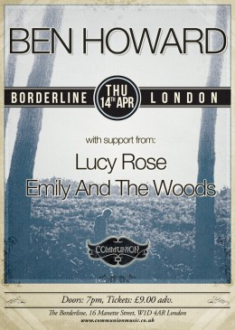Ben Howard at the Borderline