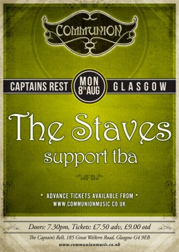 Glasgow Communion w/ The Staves + supports
