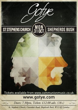 Gotye St Stephens Church Show 2011 Poster