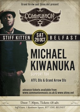 Belfast Communion in October with Michael Kiwanuka