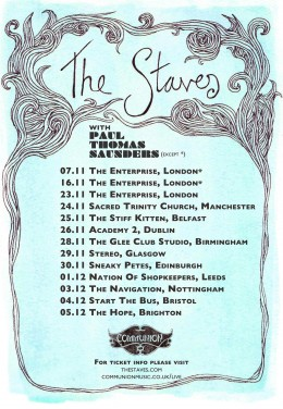 The Staves Headline UK & Ireland Tour
