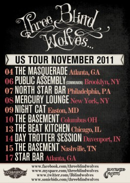 Three Blind Wolves US Tour November 2011