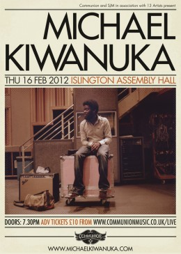 Michael Kiwanuka at Islington Assembly Hall on February 16th