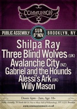 Communion returns to New York 6th November *UPDATE*