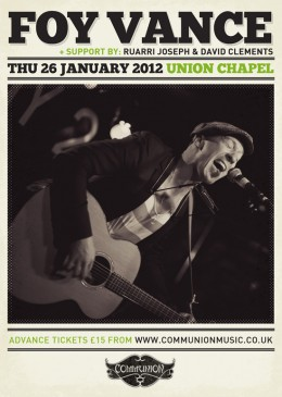 Foy Vance at Union Chapel on 26th January