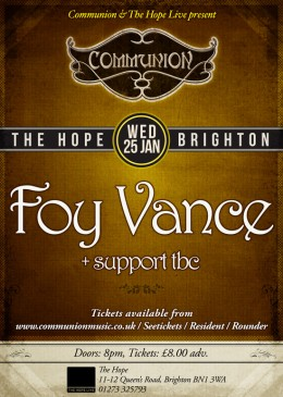 Brighton Communion January 2012 with Foy Vance