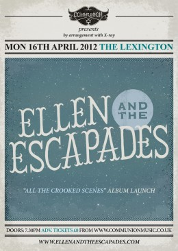 Ellen &amp; the Escapades live at the Lexington April 16 Poster