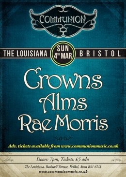 Bristol Communion March 2012 Gig Poster
