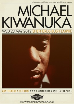 Michael Kiwanuka live at Shepherds Bush Empire 23rd May 2012