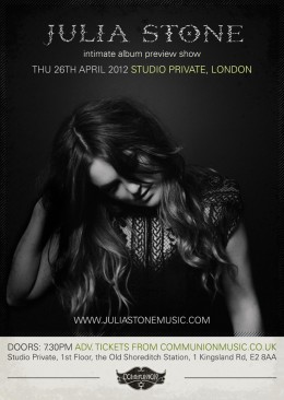 Julia Stone live at Studio Private April 2012