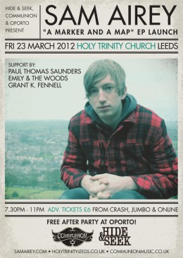 "SAM AIREY ""A Marker & A Map"" EP Launch at Holy Trinity Church, Leeds"