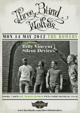 Three Blind Wolves at the Bowery May 2012 Gig Poster