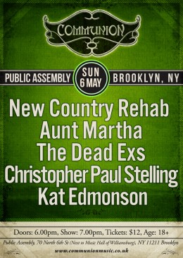 New York Communion May 2012 Gig Poster