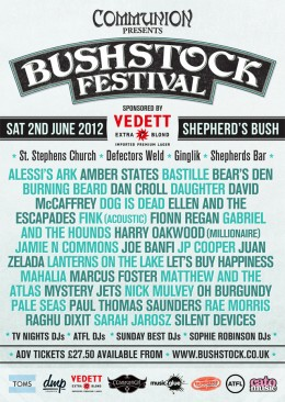 Bushstock 2012: Final Lineup & Schedule Announced