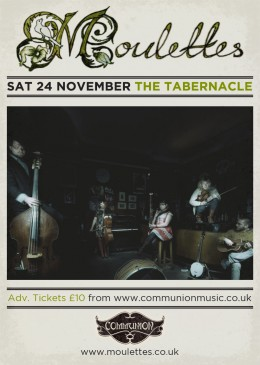 Moulettes Tabernacle November 2012 Gig Poster