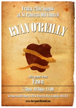 Ryan O'Reilly Live Album Recording Poster