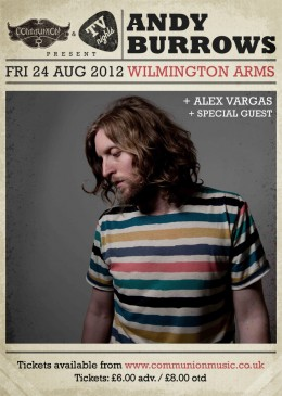 Andy Burrows WA August 2012 Gig Poster