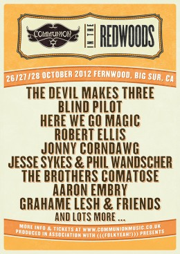 Communion Redwoods Festival 2012 Lineup 2 Gig Poster