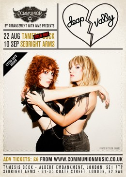 deap vally london gig poster 2012