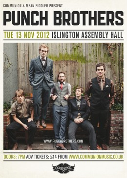 Punch Brothers at Islington Assembly Hall November 2012