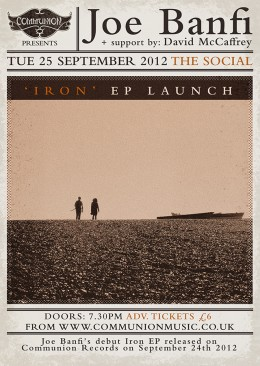 Joe Banfi Social September 2012 Gig Poster