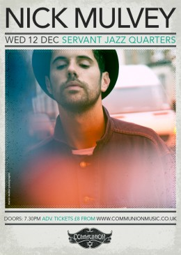 nick mulvey servant jazz quarters december 2012 gig poster