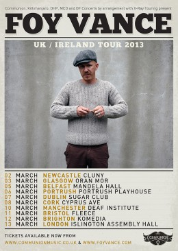 Foy Vance UK / Ireland Tour 2013 *UPDATE*