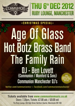 manchester communion christmas special 2012 gig poster