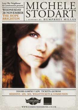 Michele Stodart at The Hope Brighton November 2012