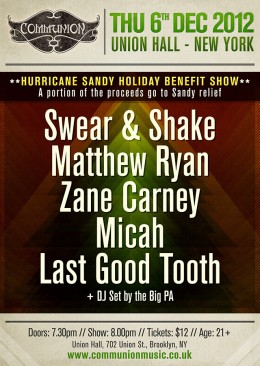 NYC Communion December 2012 – Hurricane Sandy Holiday Benefit Concert
