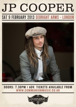 JP Cooper live at Sebright Arms February 2013