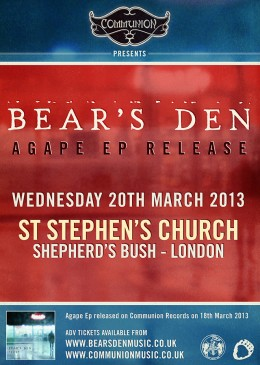 Bear's Den 'Agape' EP Release Show March 2013