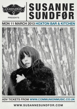 Susanne Sundfor at Hoxton Bar & Kitchen March 2013