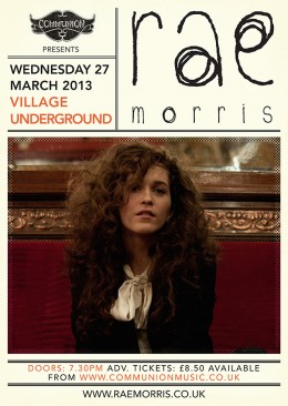 Rescheduled: Rae Morris live at Village Underground on 27th March