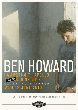 Ben Howard live at Hammersmith Apollo 13th June 2013 *Extra Date Added*