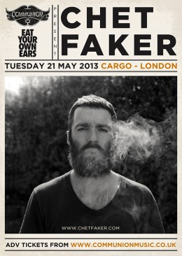 Chet Faker live at Cargo May 2013